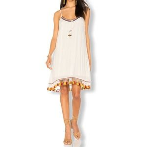 Band Of Gypsies Tassel Trim Boho Sundress XS New